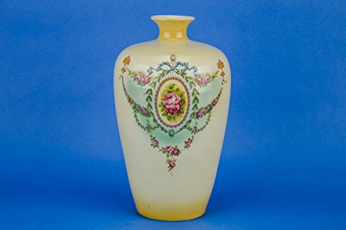 Neo-classical Elegant Floral Garlands Ceramic Serving VASE Gibson & Sons Antique Medium Urn English Circa 1910 LS