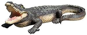 colourliving 'Figura Decorativa Cord grande el Cocodrilo 80cm la rächer AM Estanque Reptil Animales Figura