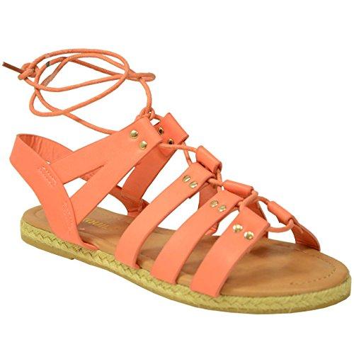 Pu Fashion Coral Zapatos Mujer Tacón Cucu Rosa Con B60w11Fq