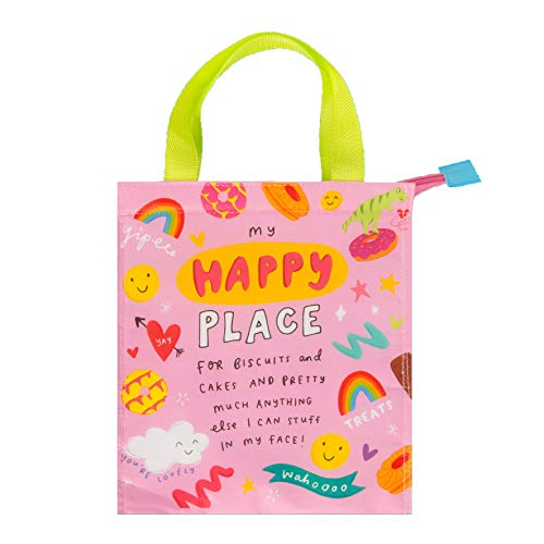 The Happy News Tote or Snack Bag - Happy Place