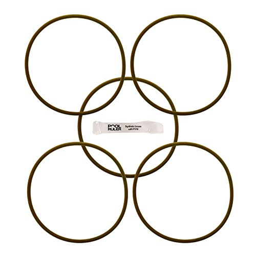 Pool Ruler CLX200K Viton O-Ring (5 PACK + LUBRICANT) for Hayward CL200 & CL220 Pool Chlorinator Chemical Feeder Lid