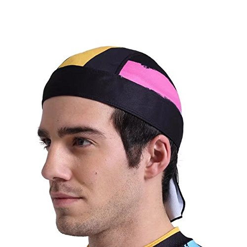 Vrcoco Sweat Wicking Skull Cap Beanie Helmet Liner for Cycling Thermal Retention and Performance Moisture Skull Wrap Beanie That Will Fit Your Head Perfect,One Size Fit Most(1pc,Pink)