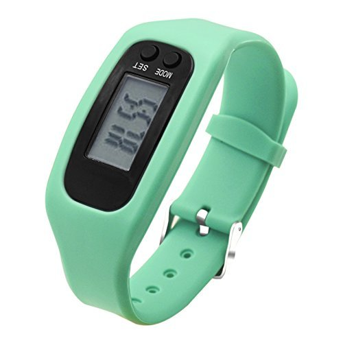 Fitness Tracker Watch, Simply Operation Walking Running Pedometer with calorie burning and steps counting by Bomxy (Mint)