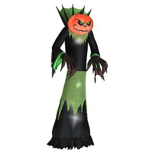 GEMMY INDUSTRIES Inflatable Pumpkin Reaper Outdoor Decor, 10-Feet