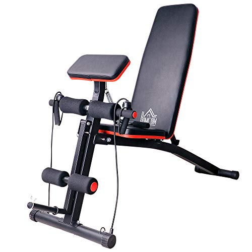 HOMCOM Foldable Adjustable Dumbbell Weight Lifting Sit Up Ab Bench Home Training Gym Incline Flat Multiuse Workout Exercise Fitness