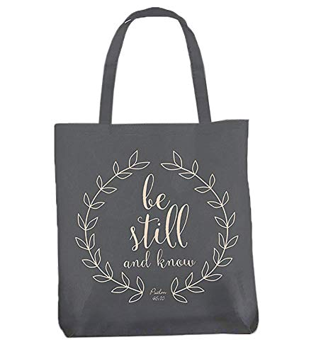 Christian Religious Tote Bag - Be Still and Know Psalm 46:10 Religious Canvas Tote Bag
