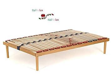 Rete letto piazza e mezza misura 120x190 in legno di faggio con ...