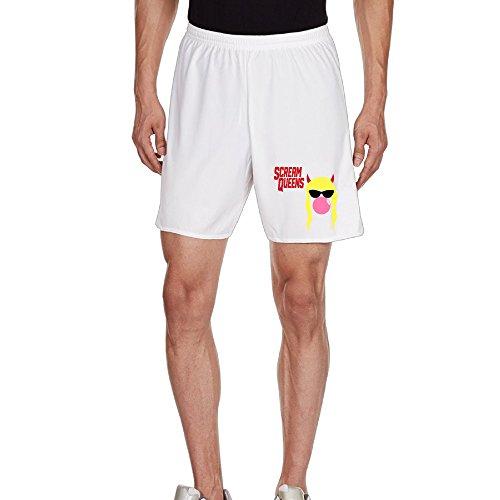 Kim Men's Casual Short Household Pants For Men's Size S White (Halloween Movie Franchise)