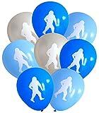 Nerdy Words Sasquatch Abominable Snowman Latex Balloons 16 pcs  Blues   Silver
