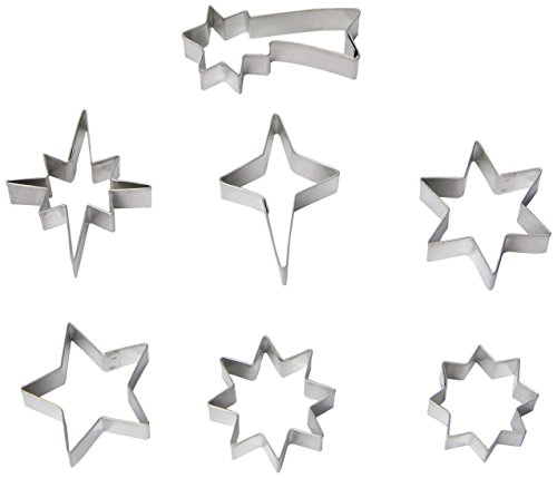 R & M Mini All Star 7 Piece Cookie Cutter Set, Tin