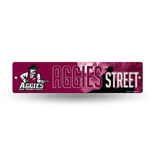 NCAA New Mexico State Aggies 16-Inch Plastic Street Sign Décor