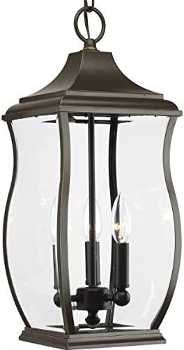Progress Lighting P5504-108 Transitional Three Light Hanging Lantern from Township Collection Dark Finish, Oil Rubbed Bronze