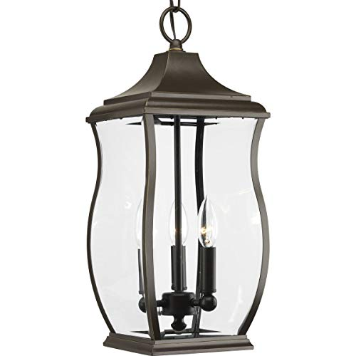 Progress Lighting P5504-108 Traditional/Formal 3-60W Cand Hanging Lantern, Oil Rubbed Bronze ()