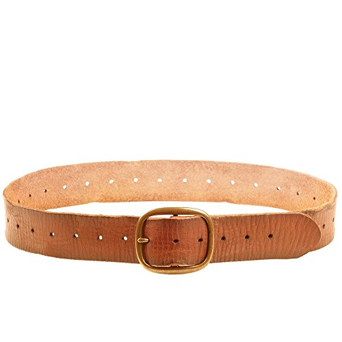 Linea Pelle Women's Perforated Vintage Belt (XS) - Linea Pelle Brown Belt