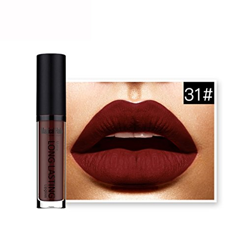 LUNIWEI Waterproof Matte Liquid Lipstick Long Lasting Lip Gloss Lipstick