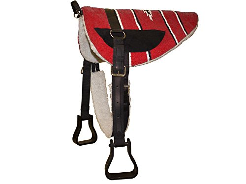 Purpose Saddle Cover - Derby Originals Tahoe Tack Navajo Western Horse Bareback Pad with Reinforced Stirrups and Girth - Multiple Colors