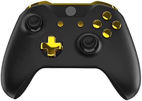 eXtremeRate Botones Completos para Xbox One S/X Botón de LB RB LT RT Bumpers Triggers Gatillos D-Pad ABXY Start Back Sync Botones con Herramientas para Xbox One S One X(Modelo 1708)-Oro Cromado:
