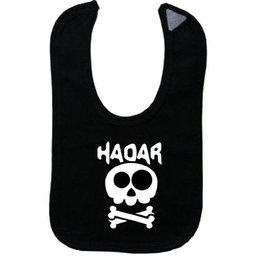 HADAR - Vintage Skull And Bones - Name-Series - Black Bib
