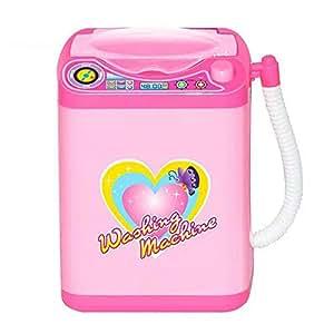 Mini Electric Washing Machine, Kids Pretend Play Mini Home Appliances Simulation Washing Machine Very Efficient Useful For Wash Eyeshadow Brush Makeup Brushes
