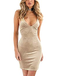 Doramode Womens Spaghetti Strap Bodycon Sleeveless...