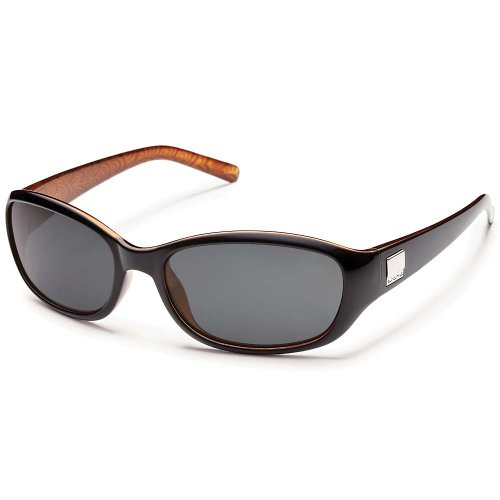 Suncloud Iris Polarized Sunglasses Black Backpaint / Gray Polarized One Size
