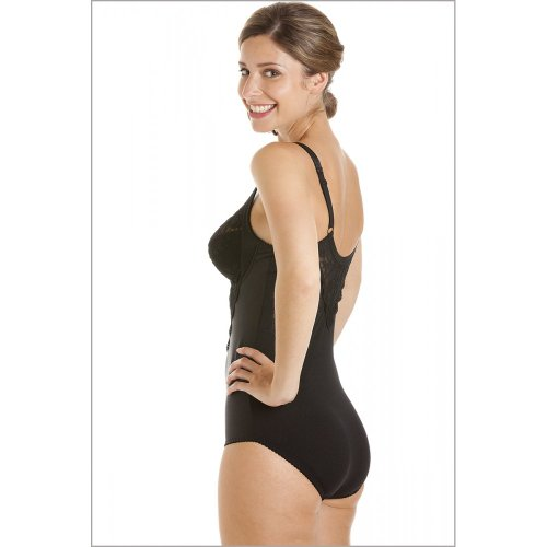 36605d5498353 Camille Womens Ladies Black Underwired Non Padded Floral Lace Shapewear Body   Amazon.co.uk  Clothing