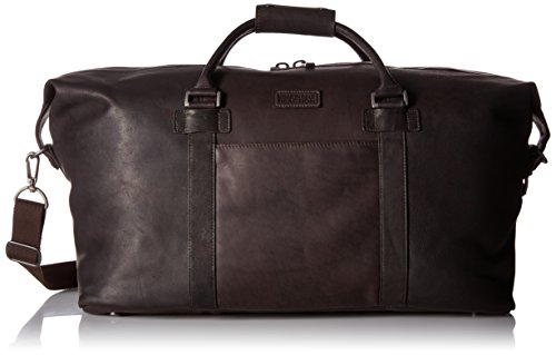 """Kenneth Cole Reaction I Beg To Duff-er Colombian Leather 20"""" Single Compartment Top Zip Travel Duffel Bag, Brown"""