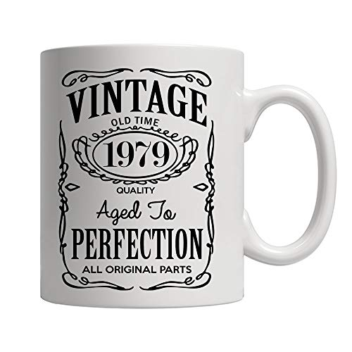 40th Birthday Gifts for Men and Women - Funny Vintage Anniversary Gift Ideas for Dad, Mom, Husband or Wife - Party Decorations for Him or Her Ceramic Coffee Mug Tea Cup White 11 oz. ()