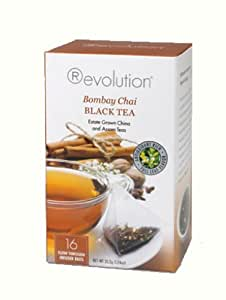 Revolution Tea Bombay Chai Tea, 16-Count Teabags (Pack of 6)