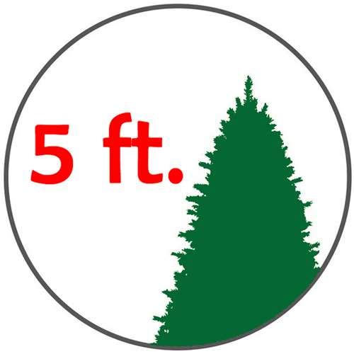 Large Christmas Trees - Home Heritage 5' Artificial Cascade Cashmere Christmas Tree w/Changing Lights