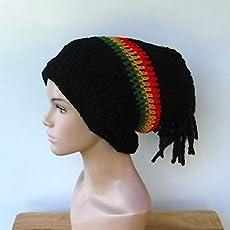 84768efc9 Amazon.com: Handmade Dreadlocks Hat Very Long Dread Tam Slouchy ...