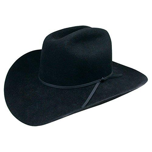 (Stetson Boys' Rodeo Jr. Wool Felt Cowboy Hat Black One Size)