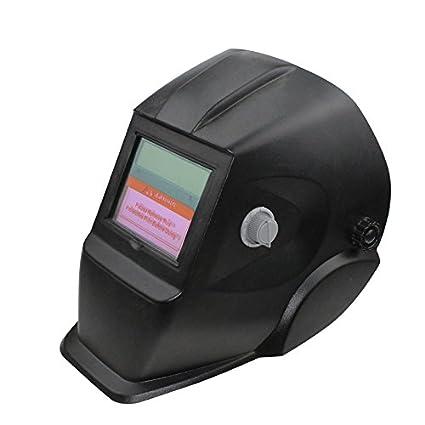 TOOGOO 2018 Nuevo Pro Mascara soldador solar Casco de soldadura de oscurecimiento automatico Negro Cuadrado