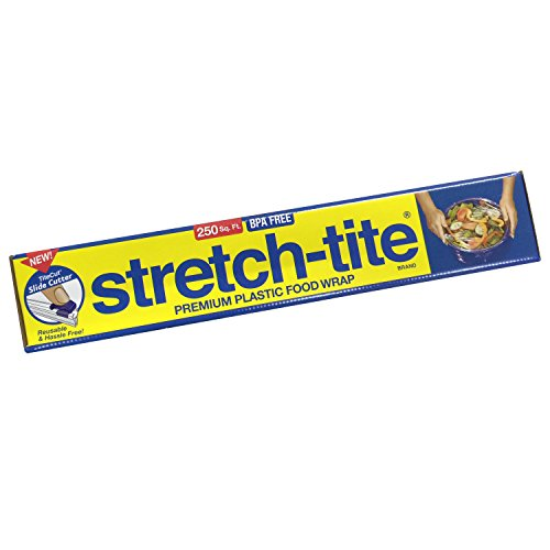 Tite Stretch Wrap Food (Stretch-Tite Premium Food Wrap With Titecut Slide Cutter, 250 Sq.ft)