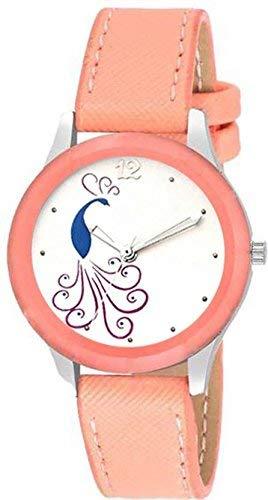 Jay Enterprise New Stylish Designer Analogue Orange Belt Women and Girl's Watch