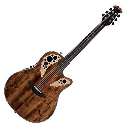 Ovation ExoticWoods Collection 6 String Acoustic-Electric Guitar, Right, Koa, Deep Contour Body (C2078AXP-KOA)