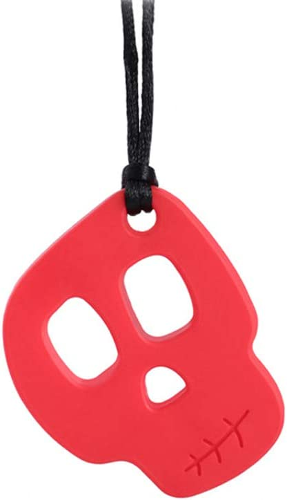 Sayletre Baby Silicone Teether Sensory Chewing Pendant Necklace Autistic Teething Toy