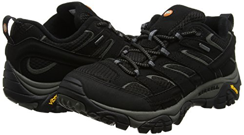 2 Para De Gtx black Negro Zapatillas Senderismo Black Moab Merrell Mujer Hpq5aa
