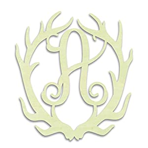 UNFINISHEDWOODCO Antler Monogram A Decorative Piece 117