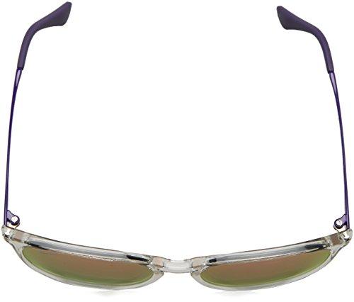Ray-Ban Junior Izzy en trou de serrure ronde lunettes de soleil à la Havane en caoutchouc léger brun rose miroir RJ9060S 70062Y 50 Noir (Negro)