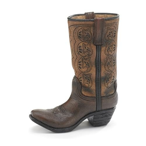 Burton & Burton Western Cowboy Boot Unique Vase for Home, Western Themed (Cowboy Boot Vase)