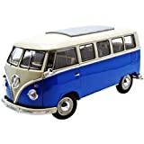 Welly 12531 blue - Sammlermodell VW Bus T1 1962, 1/18 aus Metall, blau