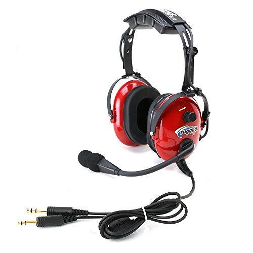 rugged air ra250 red general aviation child headset. Black Bedroom Furniture Sets. Home Design Ideas