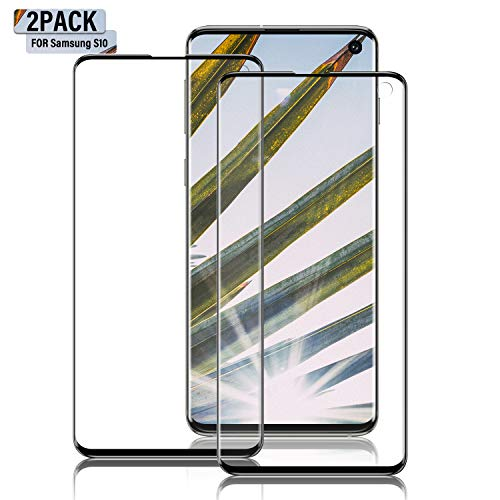 Galaxy S10 Screen Protector, [Update Version] [2 Pack] 3D Curved Dot Matrix [Full Screen Coverage] Screen Protector [Case Friendly] for Samsung S10