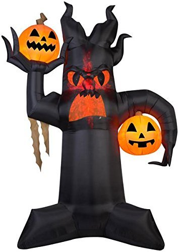10.5' Projection Airblown Kaleidoscope Giant Spooky Tree Halloween Inflatable -