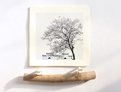Jiangnan Photography 2018 Desk Calendar With handmade Wood Stand - Chinese Architectural and Landscape Photo Mini Calendars, Christmas Presents Black and White - Day Shipping Means Next Business