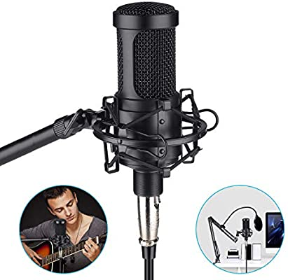 dca6e19a6eb84 Aokeo AK-60 Professional Condenser Microphone, Music Studio MIC Podcast  Recording Microphone Kit with Stand Shock Mount for PC Laptop Computer ...