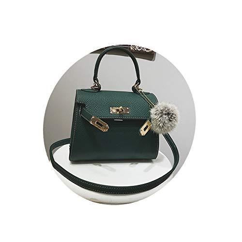 (FTSUCQ Womens Retro Satchels Shoulder Handbags Casual Boston Bag Hobos Satchels Purse (Green))