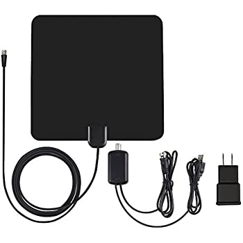 TV Antenna, ALOFOX Indoor Amplified Digital HDTV Antenna 50 Mile Range with Amplifier Signal Booster, USB Power Supply and 13FT High Performance Coaxial Cable— Upgraded Version with Better Reception