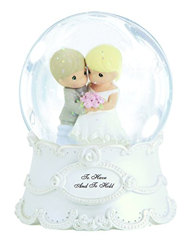 (Precious Moments,  To Have And To Hold, Resin/Glass Snow Globe, Musical, 143101)